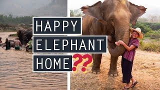 Visiting HAPPY ELEPHANT HOME in Chiang Mai // Is It ETHICAL?? // THAILAND