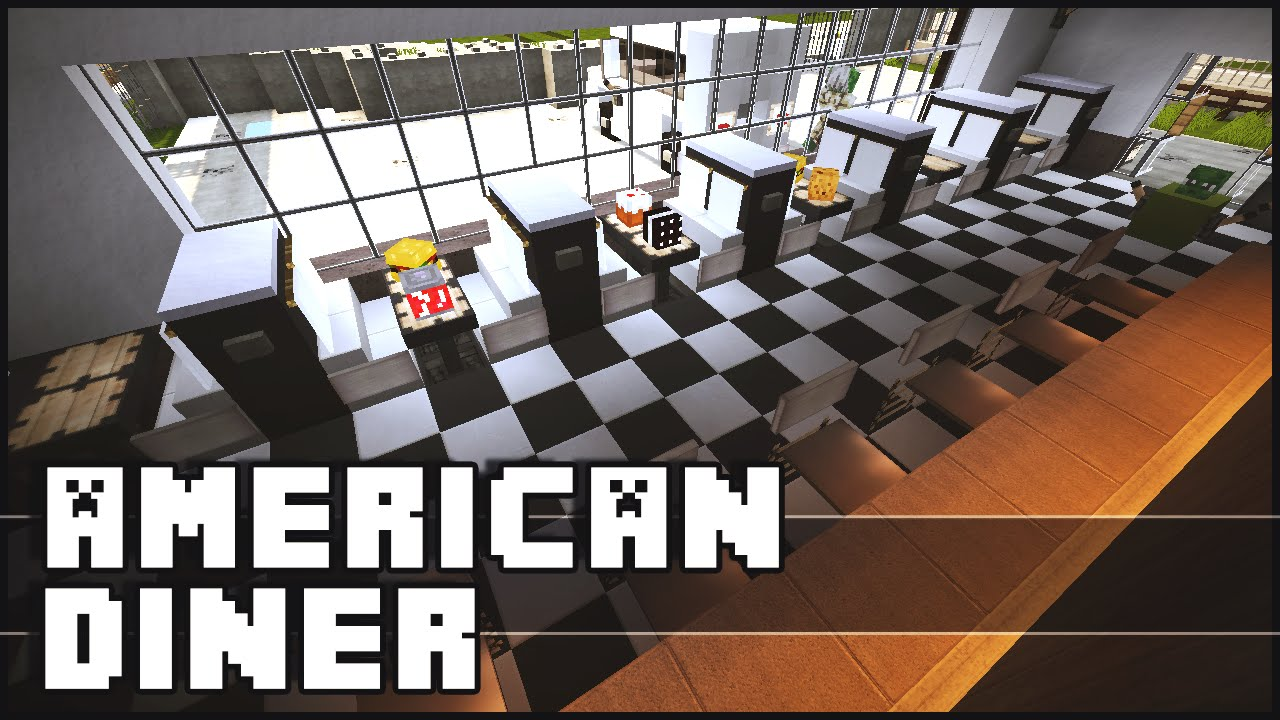 Minecraft American Diner Youtube