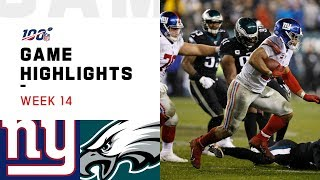 Giants vs. Eagles Week 14 Highlights | NFL 2019