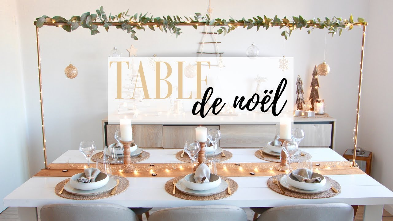 Décoration de table de noël , 2019
