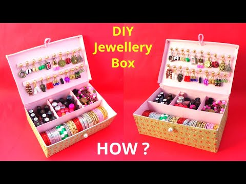 How to make Bangle Box with waste Shoebox | Best out of waste | DIY jewellery Organizer