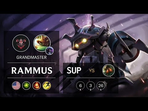 Rammus Support vs Nautilus - NA Grandmaster Patch 9.20