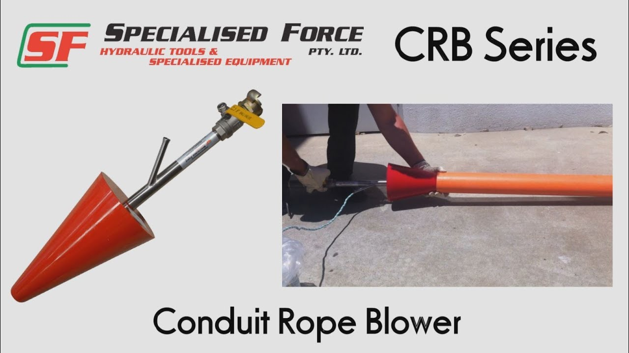 SF CRB Series Conduit Rope Blower - YouTube