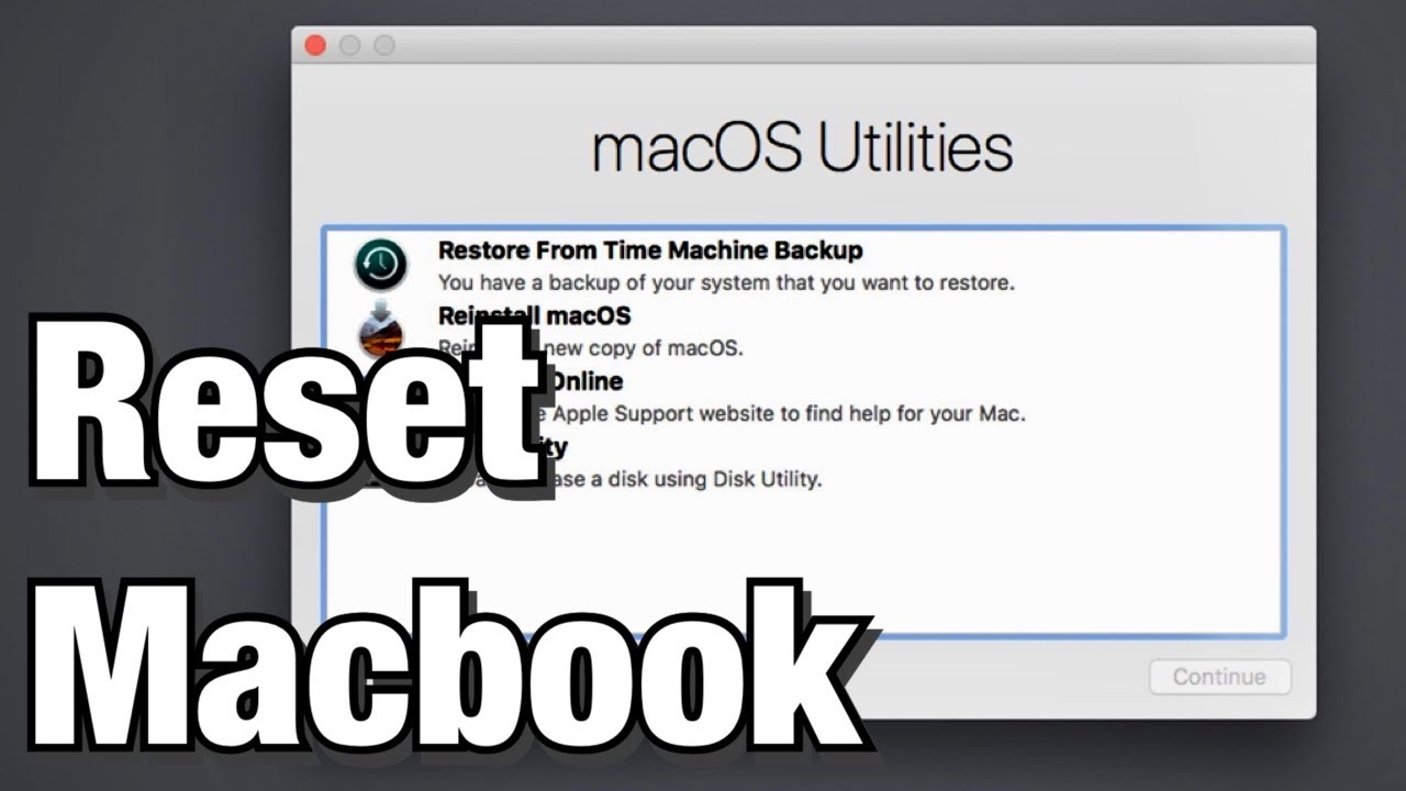 How To Reset A Macbook Air To Factory Settings Youtube