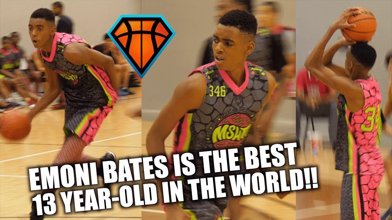 6'7 Emoni Bates is the BEST 13-Year Old Basketball Player in the WORLD!!    Full MSHTV Highlights