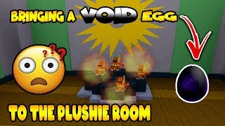 BRINGING *VOID* EGG to PLUSHIE ROOM | Build a Boat for Treaure ROBLOX