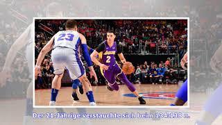 NBA: Lonzo Ball fällt bei den Los Angeles Lakers nach Knöchelverletzung aus