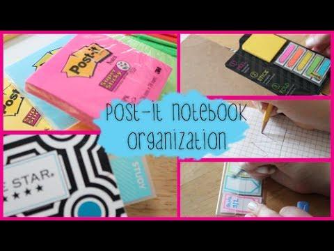Back to School Notebook Organization ft. Post-it