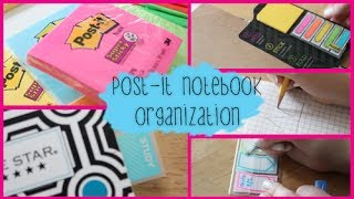Back to School Notebook Organization ft. Post-it