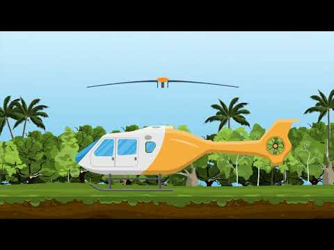 Helicopter, Chopper, Aircraft, Airplane Animated Video For Kids