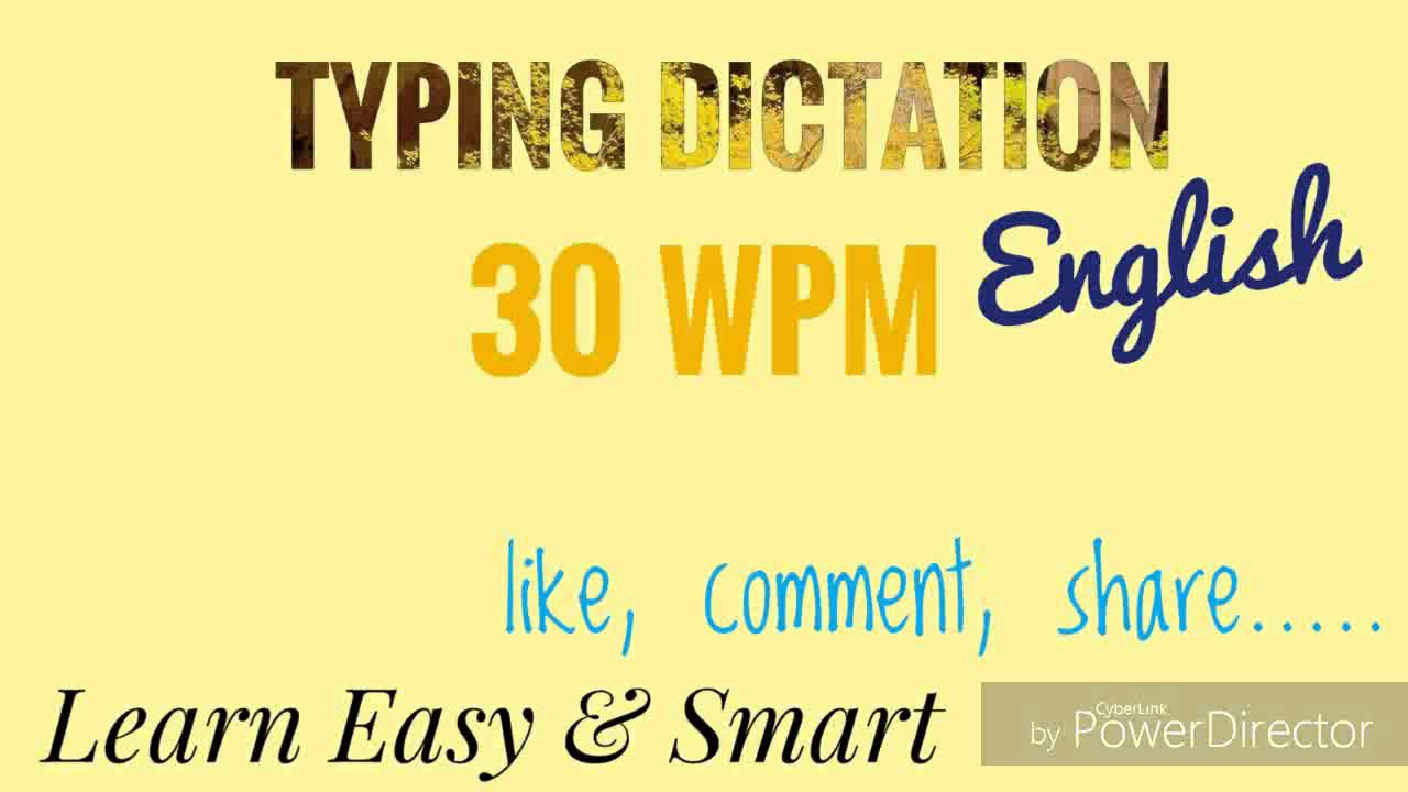 30 wpm 1 English audio dictation for typing and steno ll mp high court ll  SSC ll LDC