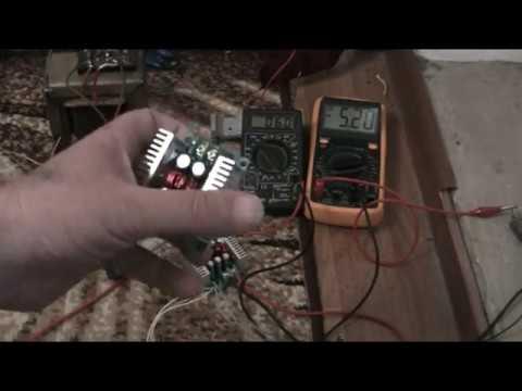 Понижающий модуль для зарядки АКБ. Step-down module for battery charging.