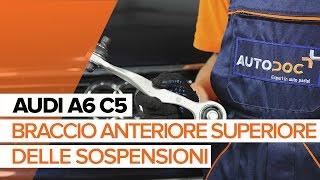 Come sostituire il braccio anteriore superiore delle sospensioni posteriori su AUDI A6 C5 [TUTORIAL]