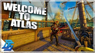 PIRATE ARK? PIRATE SURVIVAL MMO, BUILT FIRST RAFT - Atlas Gameplay Part 1