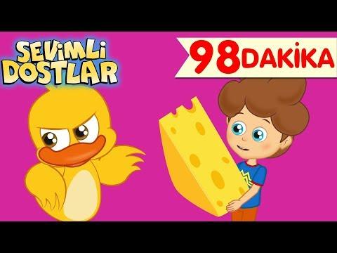 Güçlen Geride Kalma ve Sevimli Dostlar ile 98 Dakika Çizgi Film Bebek Şarkıları