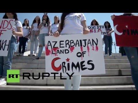 Greece: Hundreds protest Turkey, Azerbaijan on 101st anniversary of Armenian Genocide