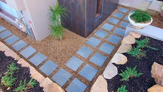 DIY stepping stone path video - Euro® Stone How to build a side path