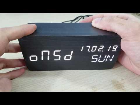 Leeron Wooden LED Digital Alarm Clock