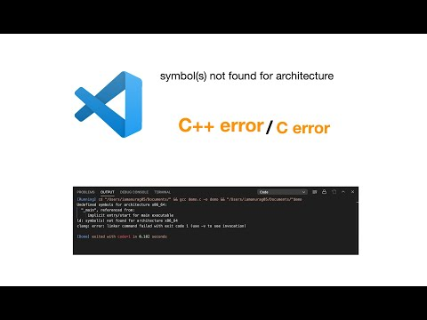 How To Fix Linker Error Undefined Symbols For Architecture Arm64 In Swift Youtube