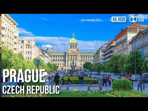 Prague, Wenceslas Square and City - 🇨🇿 Czech Republic - 4K Walking Tour
