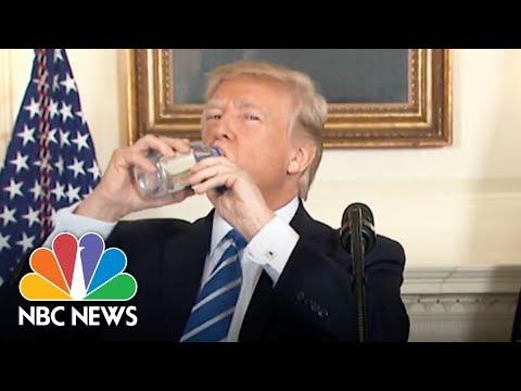 President Donald Trump Vs. Marco Rubio: Awkward Water Bottle Moments   NBC News