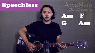 Chord Gampang (Speechless - Naomi Scott) by Arya Nara (Tutorial Gitar) Untuk Pemula