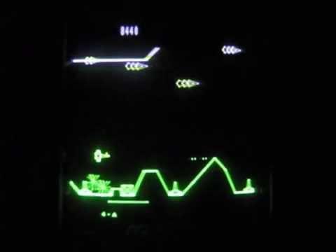 VECTREX -- SCRAMBLE -- [Full Game till Endboss] 1982