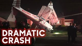 Small plane crashes on front lawn of home