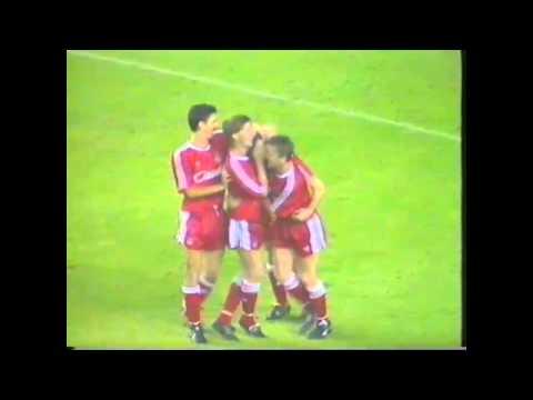 John Aldridge last game for Liverpool FC
