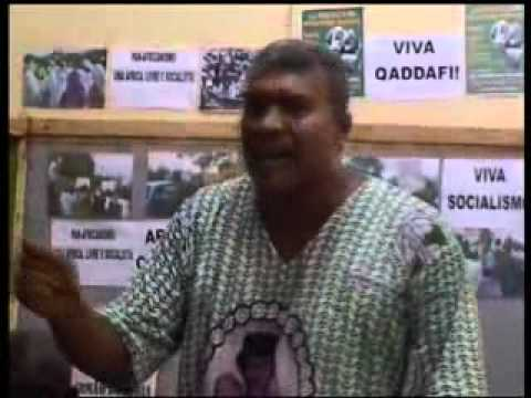 Imani in English at Press Conference Guinea-Bissau Millions for Libya March in Harlem.flv