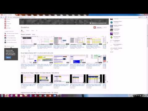 excelisfun YouTube Channel: How To Search For Videos & Download Excel Workbooks