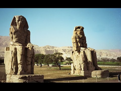 Minecraft 11500 BC historic reconstructions of the ancients  Egypt Memnon Colossi