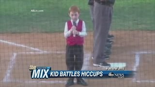 Young Boy Sings and Fights Off Hiccups   ABC News