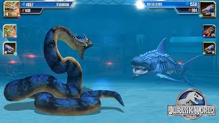TITANOBOA VS MEGALODON - AQUATIC TOURNAMENT || JURASSIC WORLD THE GAME