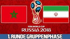 MAROKKO :  IRAN | 1. Runde Gruppenphase | FIFA WM 2018 Prognose
