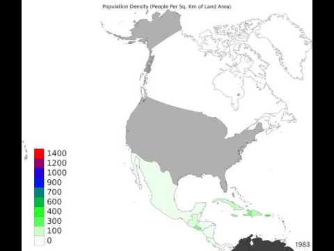 North America - Population Density - Timelapse