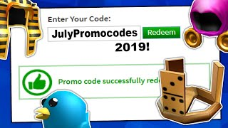 ALL WORKING PROMO CODES FOR ROBLOX | *JULY 2019* | ROBLOX PROMO CODE