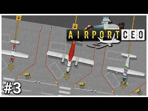 Airport CEO - #3 - Commercial Contracts - Let's Play / Gameplay / Construction