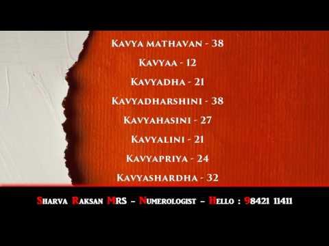 FEMALE BABY NAMES - BEST NUMEROLOGIST - SHARVA RAKSAN MRS - 9842111411 - AVITTAM NAKSHATHRAM-3