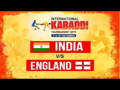 INDIA Vs ENGLAND | INTERNATIONAL KABADDI TOURNAMENT 2019 |DEC-3| POOL-A MATCH 2 | PTC PUNJABI GOLD