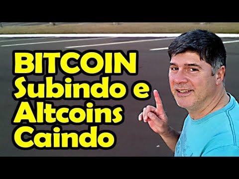 Bitcoin Subindo e Altcoins Caindo