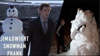 REAL LIFE SNOWMAN PRANK(Jim & Dwight + The Office)