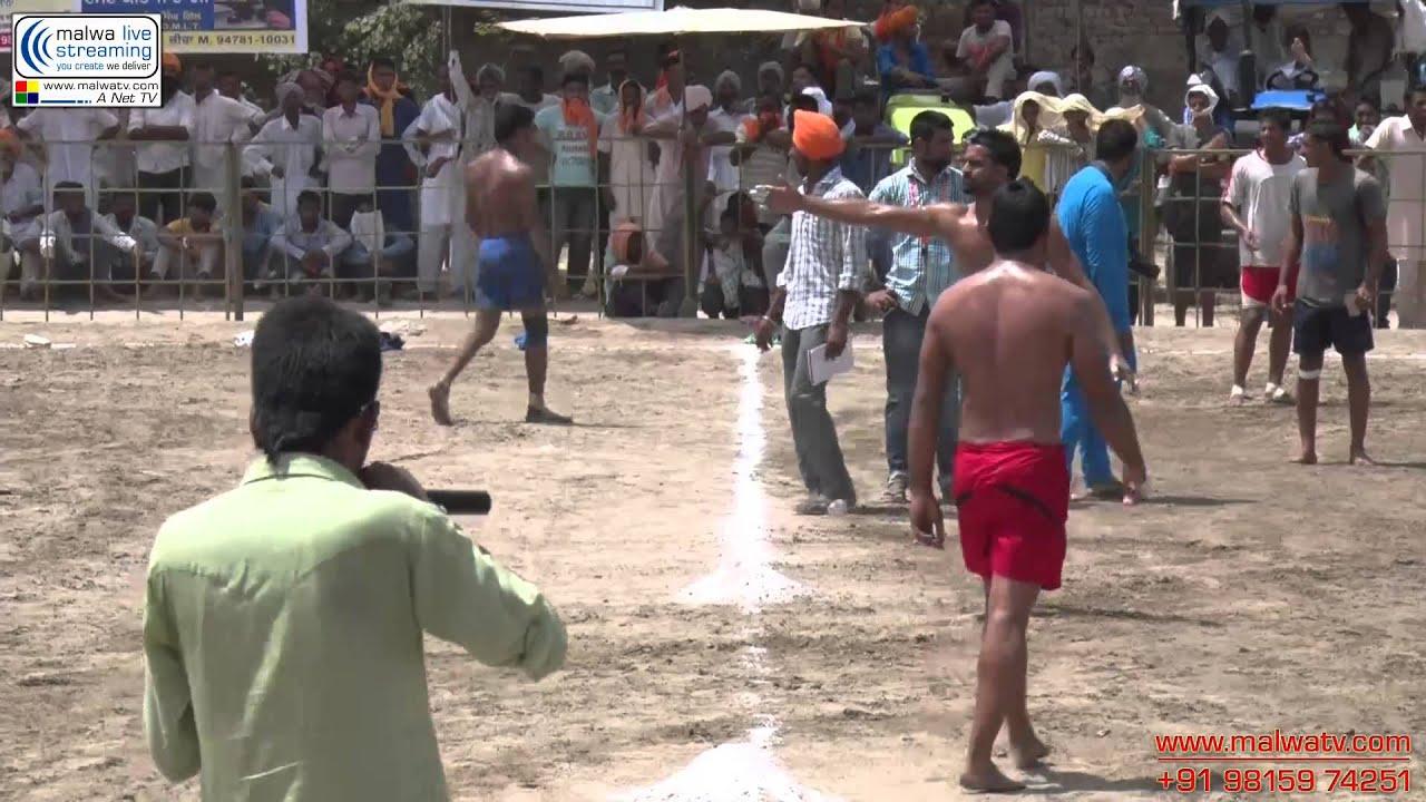 Kabaddi Tournament (HD). SANTUWALA (Zira)  Aug - 2014. Part 1st.