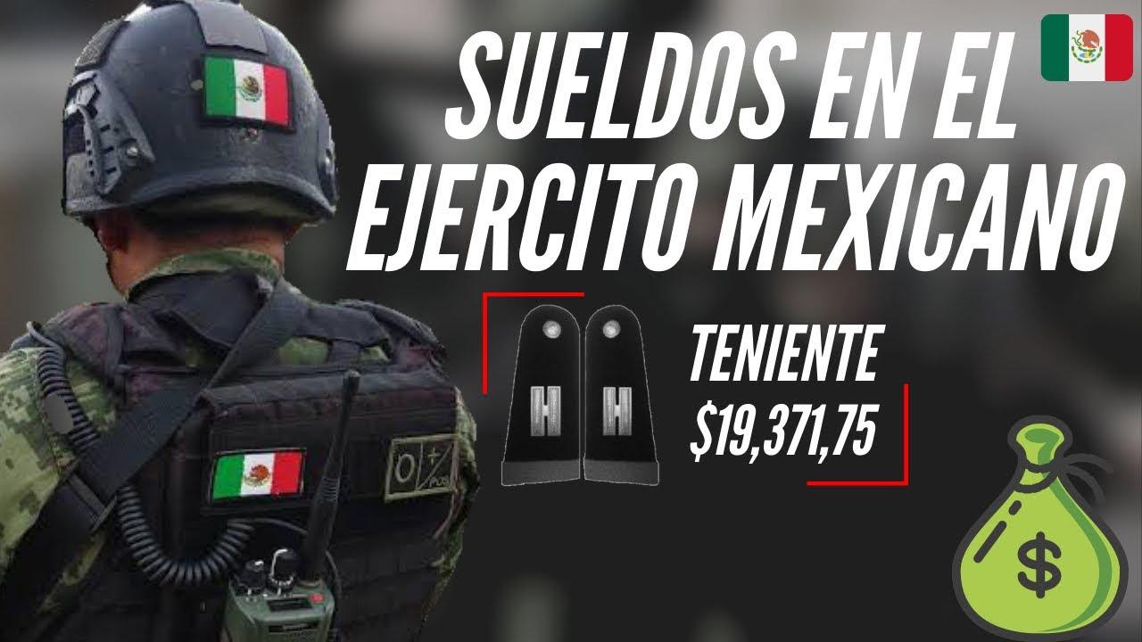 ESTO ES LO QUE GANAN LOS ELEMENTOS DEL EJÉRCITO MEXICANO, DIVIDIDO EN RANGOS!