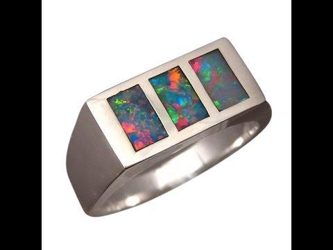 Heavy Sterling Silver Opal Ring For Men YouTube