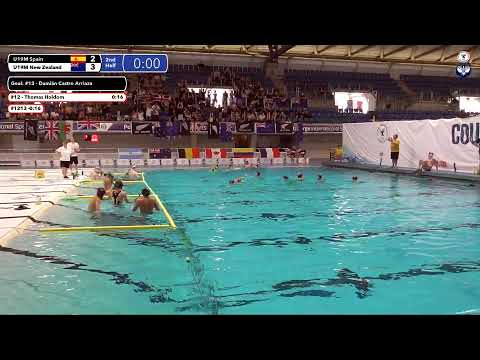 Game 193 (NZ vs ESP U19M) Spanish - 5th CMAS Underwater Hockey Age Group Worlds - Sheffield, UK