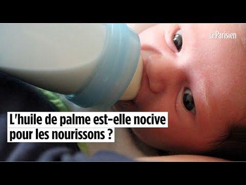L'huile de palme dans le lait infantile est-elle dangereuse ?