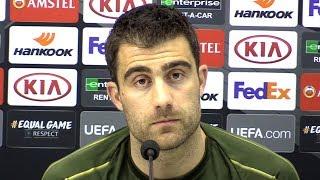 Sokratis Papastathopoulos Full Pre-Match Press Conference - Napoli v Arsenal - Europa League