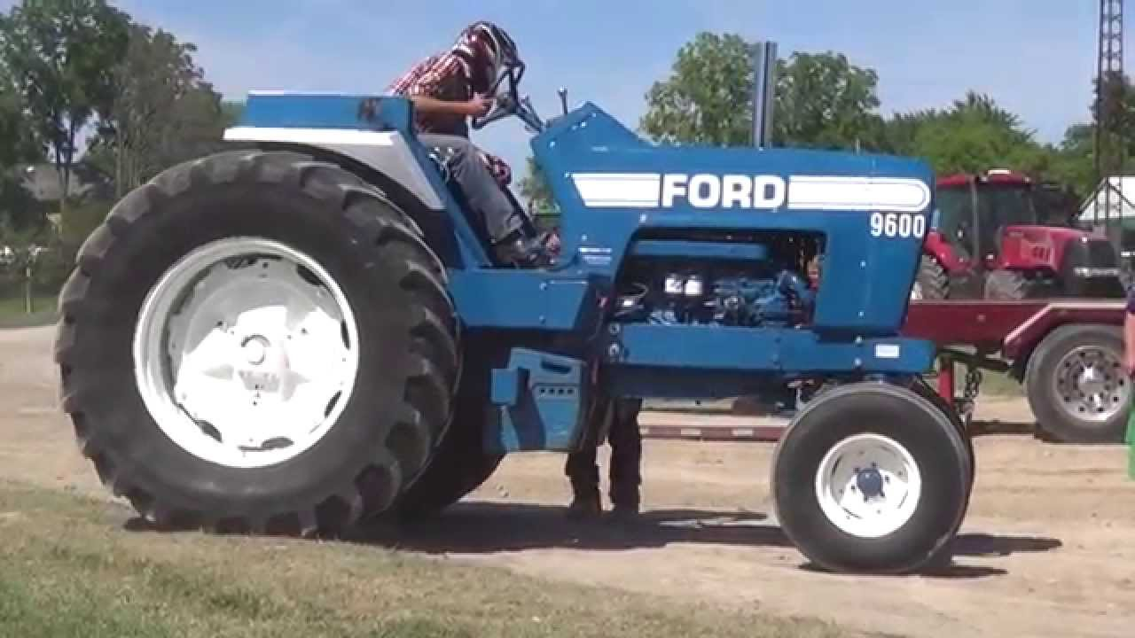 Ford 9600 Tractor : Ford lucan tractor pull youtube
