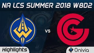 GGS vs CG Highlights NA LCS Summer 2018 W8D2 Golden Guardians vs Clutch Gaming by Onivia